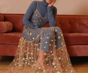 fashion, dress, and stars image