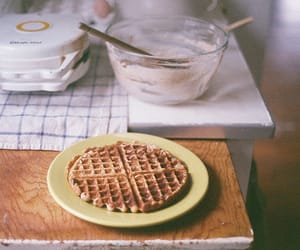 vintage, waffles, and food image