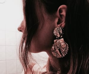 earrings, accessories, and hair image