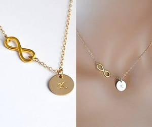 etsy, initial, and necklace image