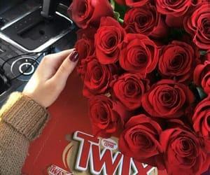 chocolate, flowers, and Twix image