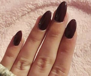 girly, darkred, and nails image