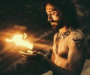 aesthetic, fire, and god image