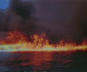 film, flames, and water image