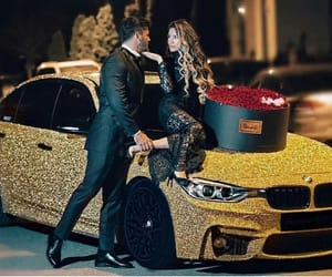 car, flowers, and lovers image