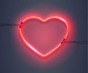 heart, neon, and background image
