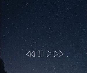 stars, music, and sky image