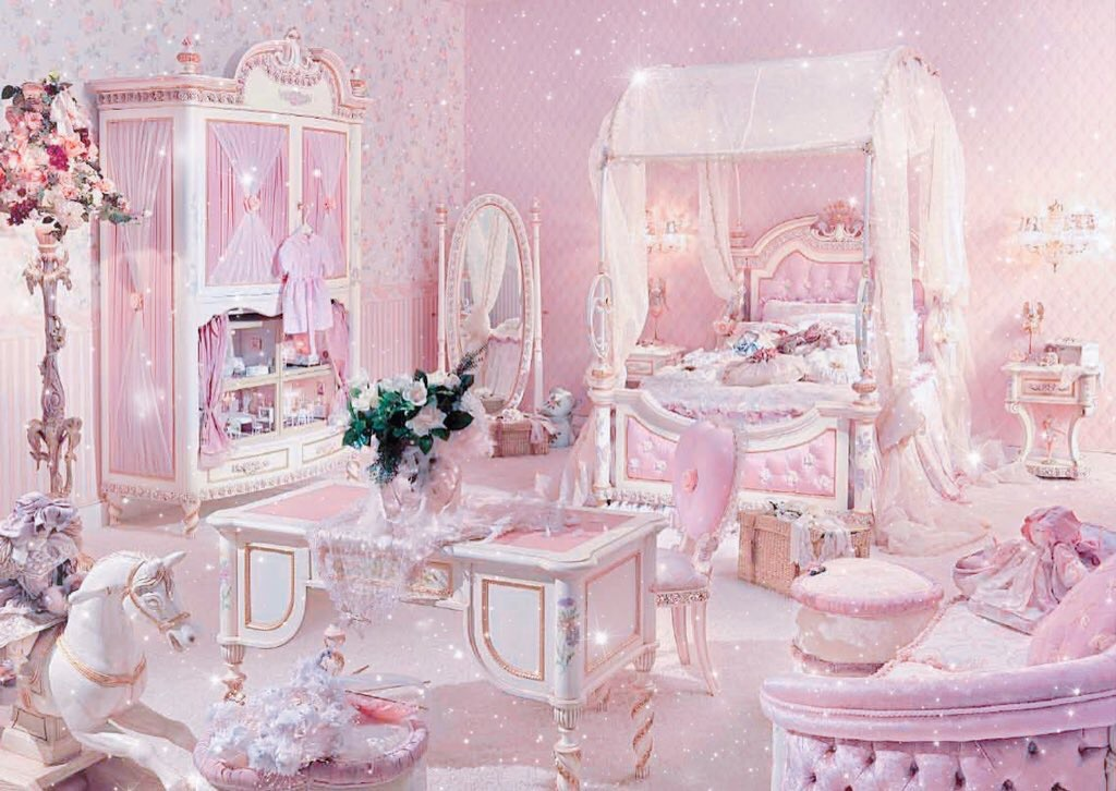 cute Princess room discovered by frozenpink♡ on We Heart It