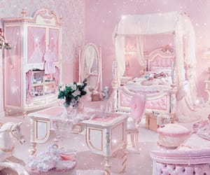 pink, bedroom, and room image