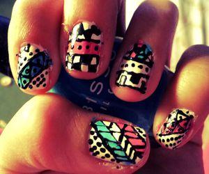 nail, nails, and tribal image