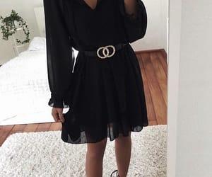 autumn, black, and dress image