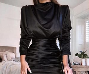 black, dress, and chic outfits image