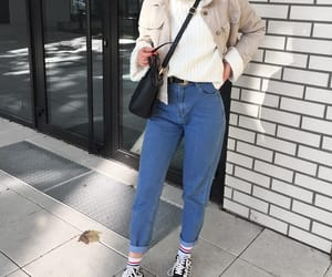 fashion, handbag, and jacket image