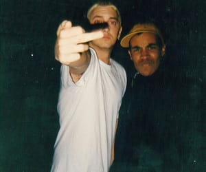flipping the bird, middle finger, and slimshady image