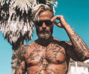 sexy, Tattoos, and vintage guys image