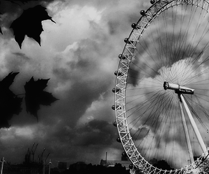 black and white and england image