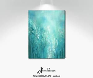 etsy, teal wall art, and turquoise blue green image