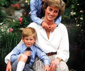 princess diana, prince harry, and prince william image