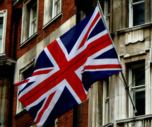 london, union jack, and england image