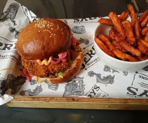 burger, cape town, and eat image