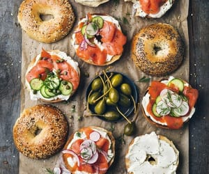 food, bagel, and healthy image