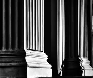 architecture, black and white, and b&w image
