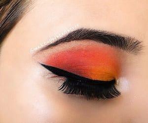 cateye, lashes, and eyeliner image