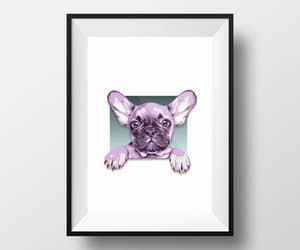 digital download, french bulldog print, and frenchie puppy image