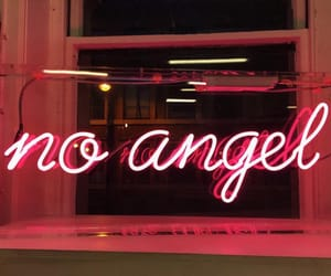 neon, angel, and red image