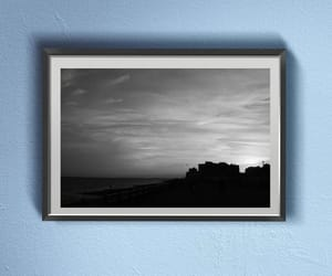 black and white, digital download, and sunset skyline image