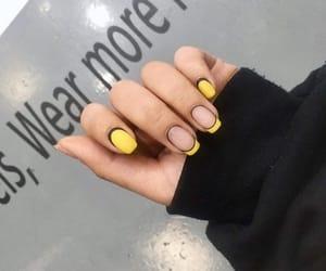 nails and yellow nails image
