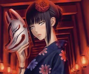 anime, girl, and kitsuné image