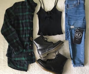black boots, black top, and fashion image
