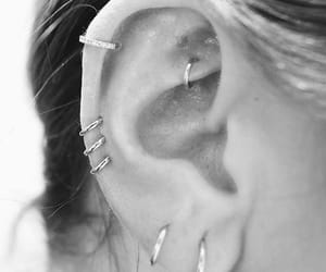 piercing, style, and earrings image