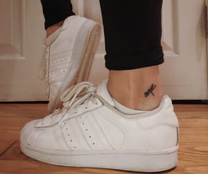 adidas, tattoo, and dragonfly image