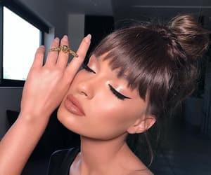 bang, blush, and brunette image