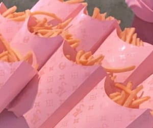 fries, pink, and travis image