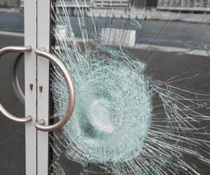 break, broken glass, and damage image