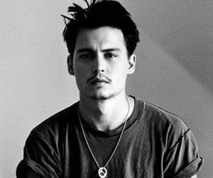 johnny depp, Hot, and black and white image