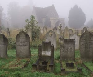grunge and cemetery image