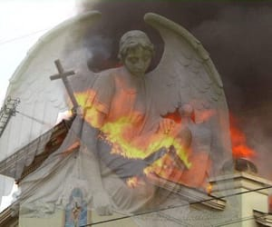 angel, burning, and cross image