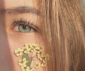 aesthetic, eye, and flower image