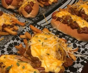 cheese, food, and hotdogs image