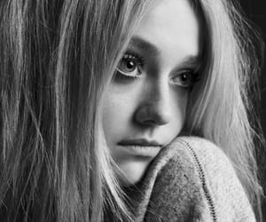 black and white, blond hair, and eyes image
