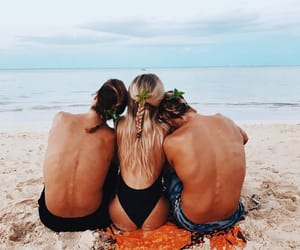 beach, sun, and friendship image