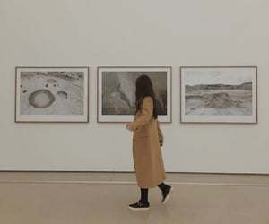 aesthetic, girl, and museum image