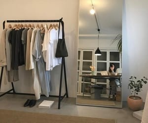 clothes, mirror, and plants image