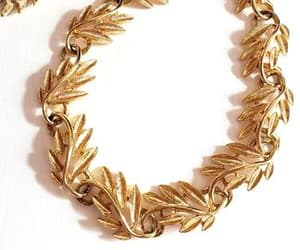 gold necklace, necklaces, and necklace vintage image