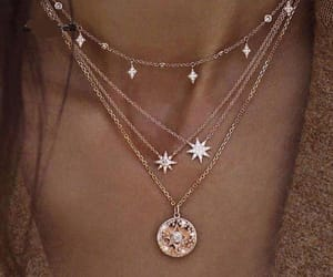 jewelry, necklace, and gold image