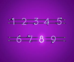 numbers and purple image